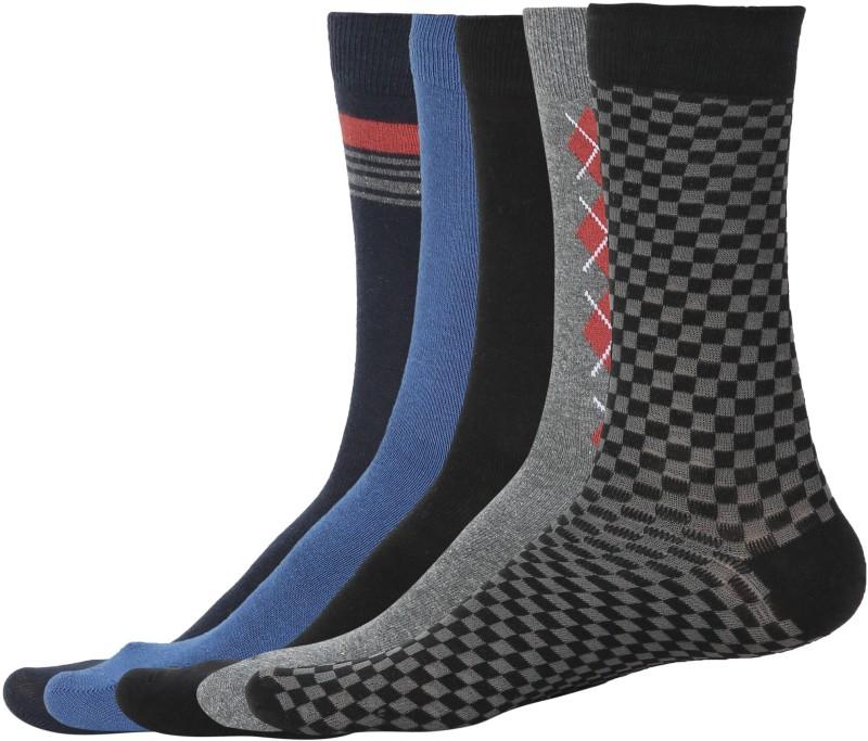 Hush Puppies Mens Geometric Print Quarter Length Socks(Pack of 5)