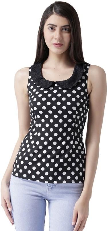 MsFQ Casual Sleeveless Printed Women's Black Top