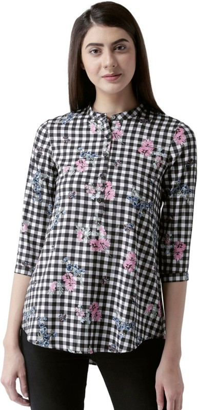 MsFQ Casual 3/4th Sleeve Checkered Women's Multicolor Top