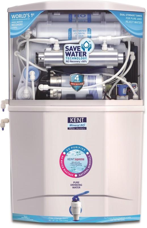 Kent SUPREME(11006) 18 L RO + UV + UF Water Purifier(White)