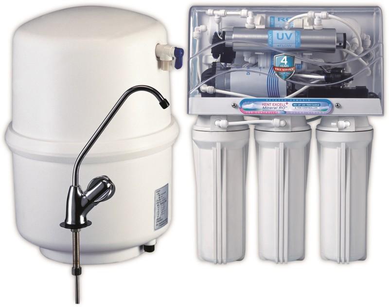 Kent excel plus 7 L RO + UV + UF + TDS Water Purifier(White)