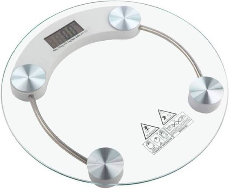 technopedia WS-300A DVZX-5596 Personal Weight Machine 6mm Round Glass Weighing Scale Weighing Scale (Transparent) Weighing Scale(transparent)