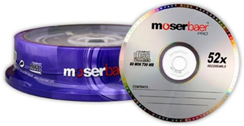 Moserbaer CD Recordable Pro Pack Of 10 700 MB