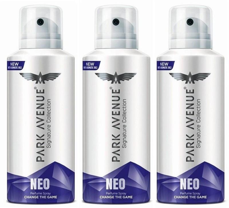 Park Avenue NEO 140 ml each Perfume Body Spray - For Men(420 ml, Pack of 3)