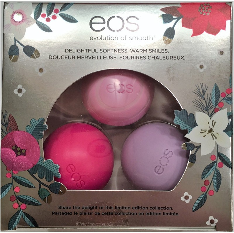 eos 2016 Limited Edition Holiday Lip Balm Sphere collection 3-Pack, Honey Apple, Wildberry, Passion Fruit, Multi Pack Honey Apple, Wildberry, Passion Fruit(25 g)