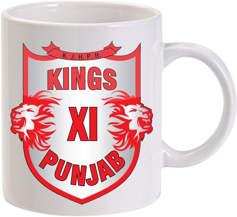 MUGKIN KXIP - Kings XI Punjab printed Ceramic Mug(350 ml)