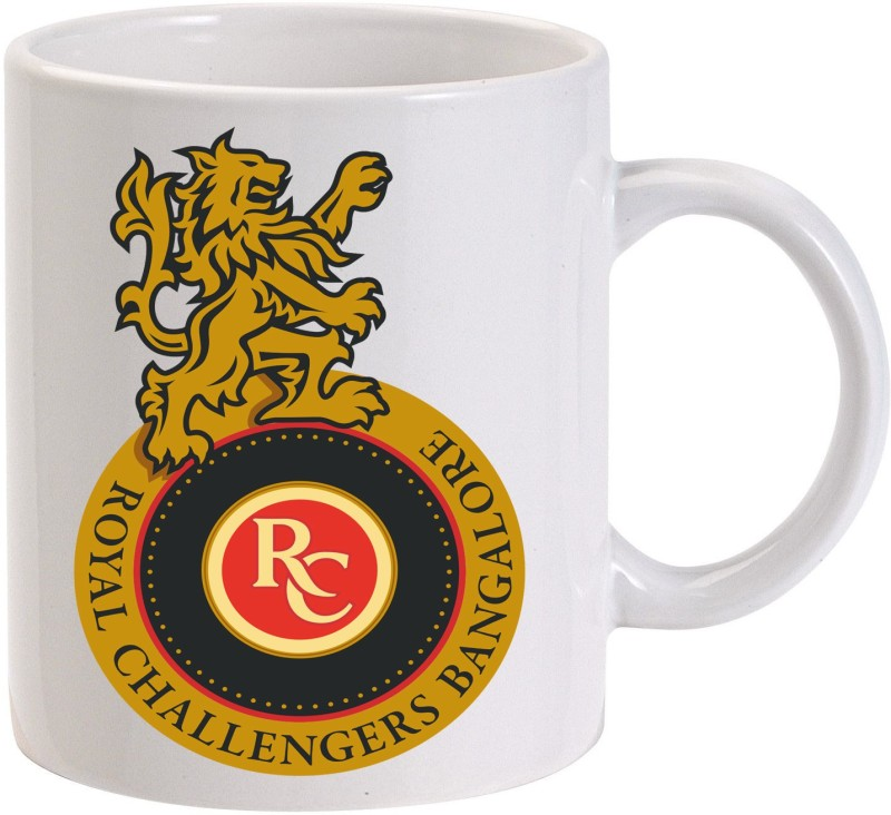 MUGKIN RCB - Royal Challengers Bangalore Printed Ceramic Mug(350 ml)