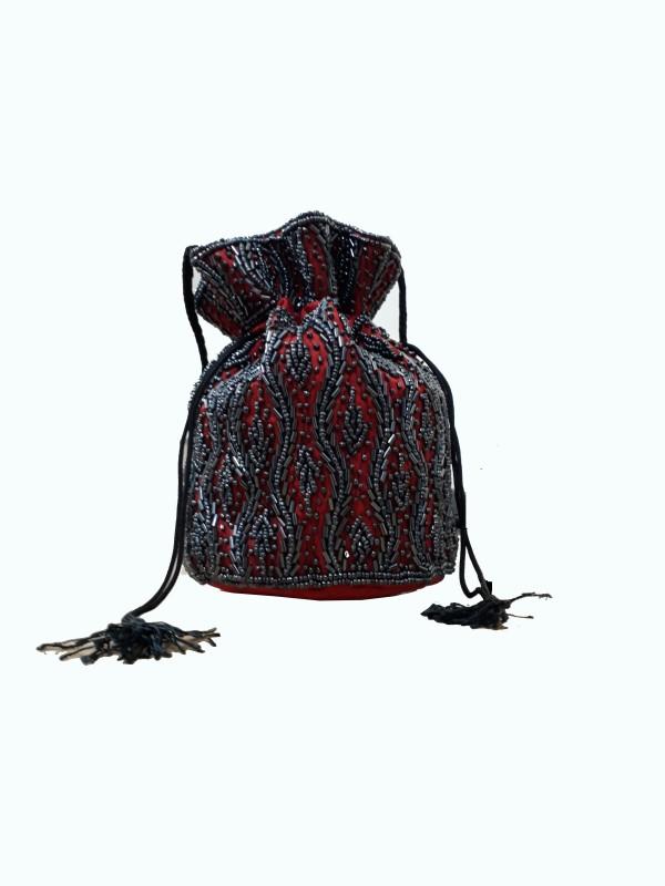 HimalayaHandicraft Potli Bag Potli(Red)