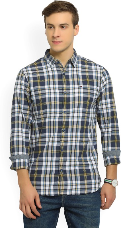 Tommy Hilfiger Mens Checkered Casual Multicolor Shirt