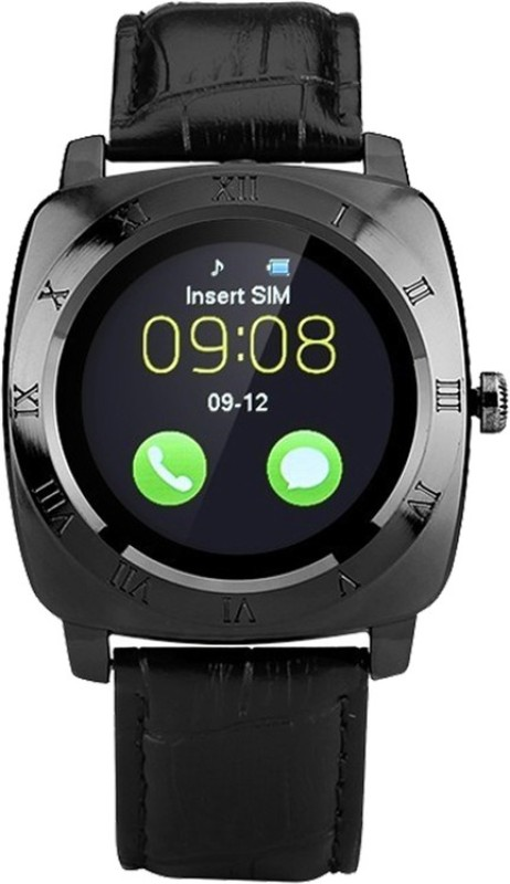 QP360 Q360 X3 - Black - 1 phone Smartwatch(Black Strap, Free Size)