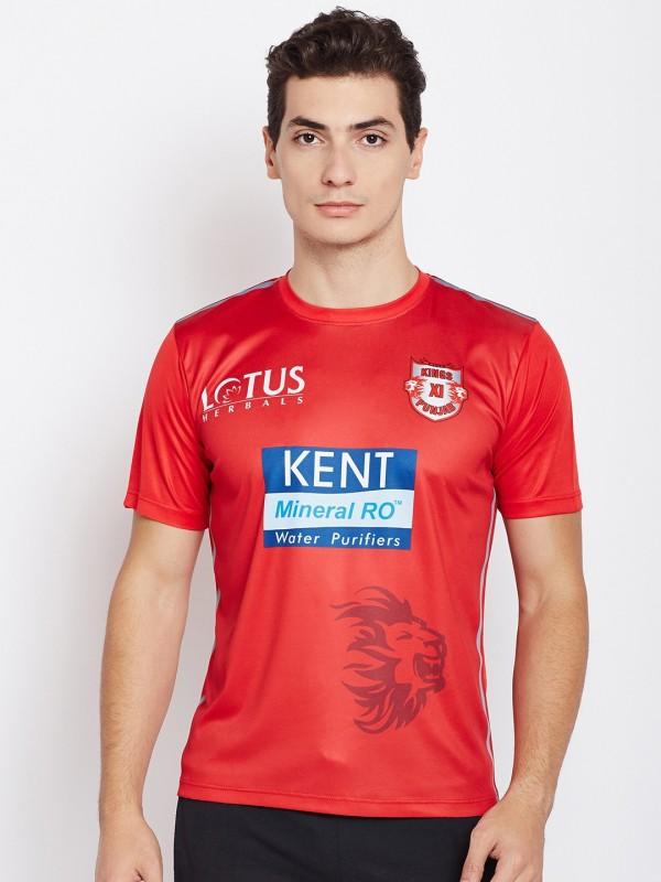 Kings XI Punjab Printed Men Round Neck Red T-Shirt