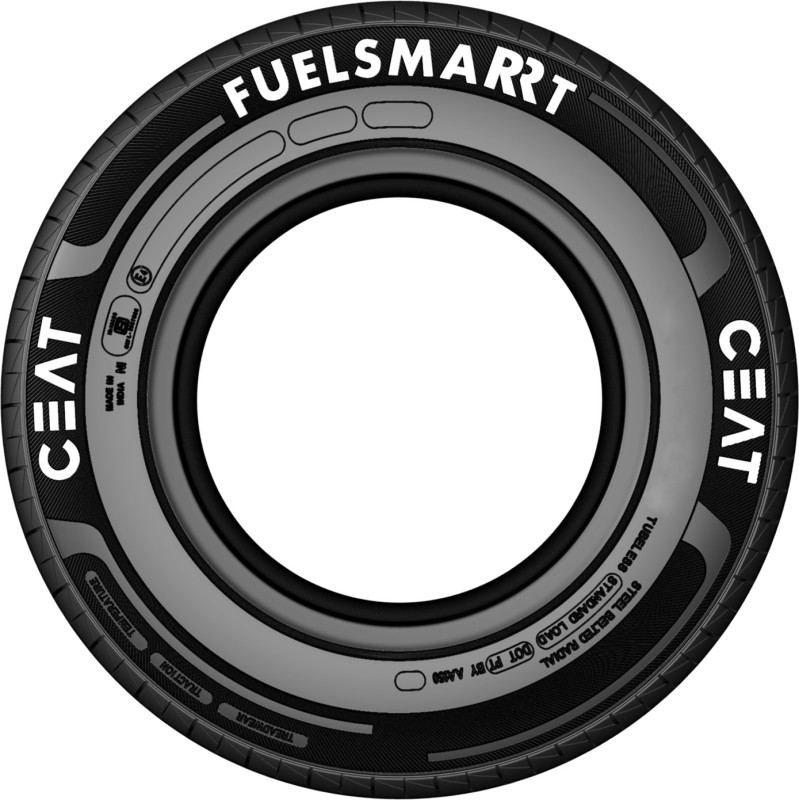 CEAT 104814 4 Wheeler Tyre(155/70R13 FUELSMARRT TL 75T, Tube Less)