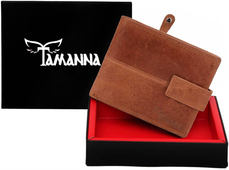 Tamanna Men Tan Genuine Leather Wallet(3 Card Slots)