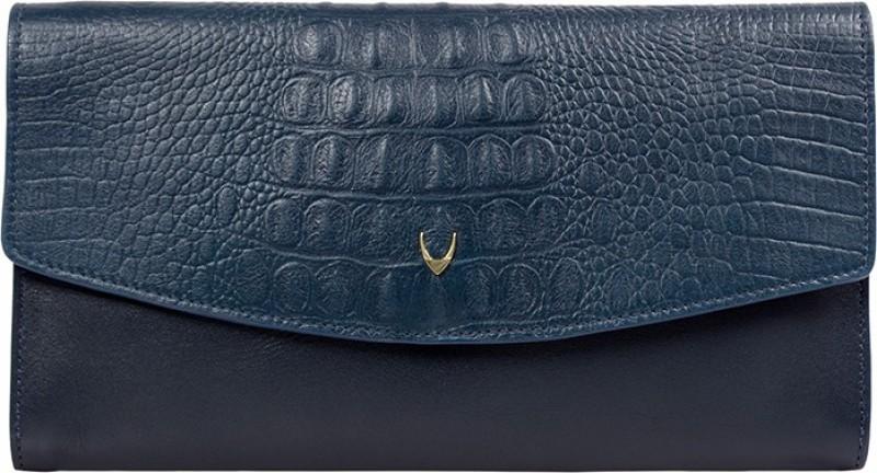 Hidesign Women Blue Genuine Leather Wallet(2 Card Slots)