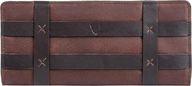 Hidesign Women Casual Black, Brown Genuine Leather Wallet(2 Card Slots)