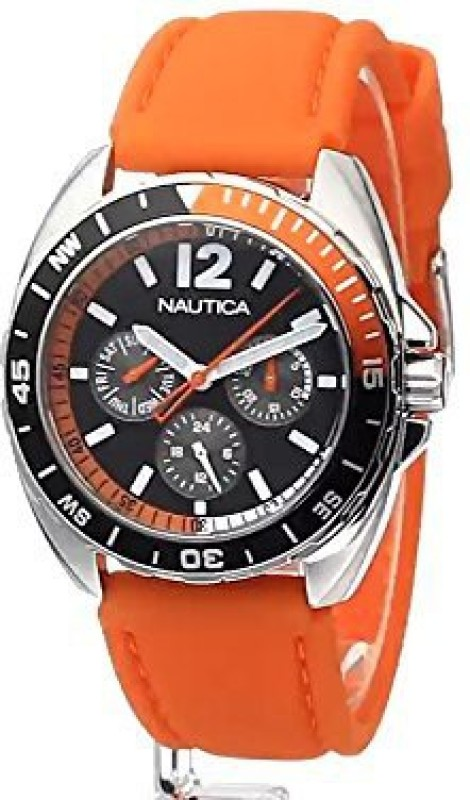 Nautica Black2376 Nautica Unisex N09908G Sport Ring Multifunction Stainless Steel Watch With Two Interchangable Bands Watch - For Men