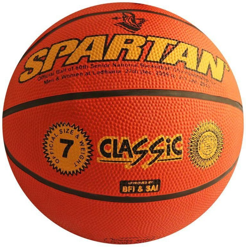 Spartan Classic Basketball Basketball - Size: 7(Pack of 1, Multicolor)