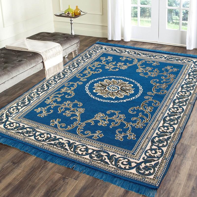 The World Trendz Light Green Cotton Polyester Blend Carpet(138 cm X 213...