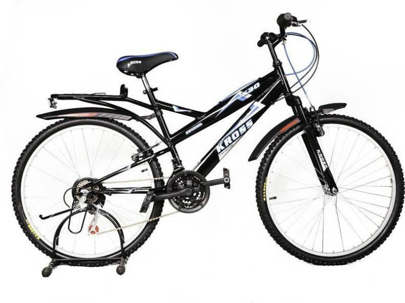 Kross K-30 Unisex Bike For Teenagers Black 24 T Mountain Cycle(18 Gear, Black)
