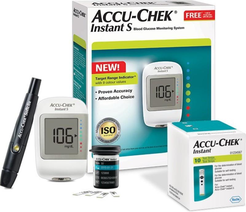 Accu-Chek Instant S Meter Glucometer(White)