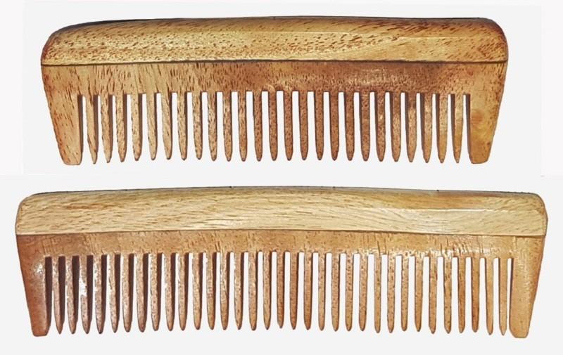 AASA Handcrafted Wood Pocket Comb - Anti Static (Set of 2 model)