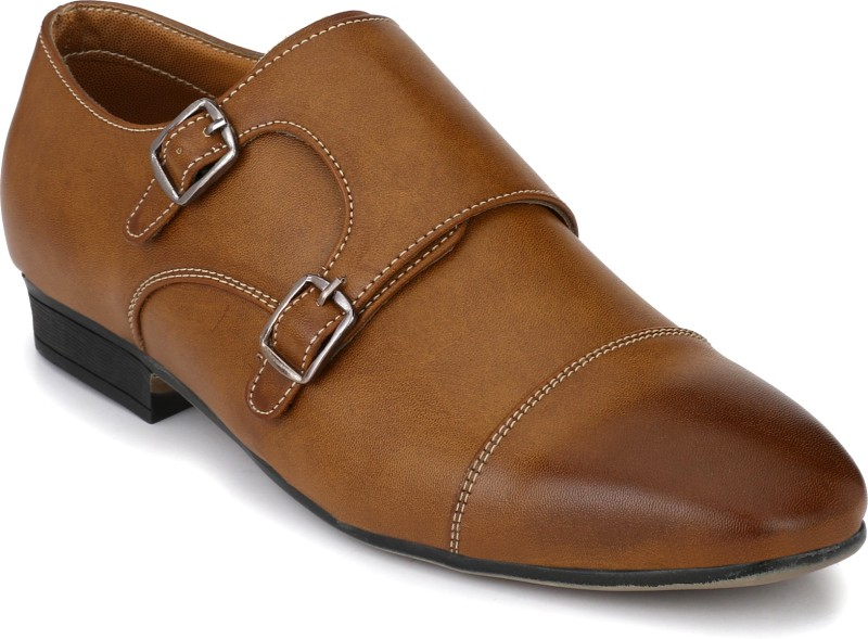 Fentacia Monk Strap For Men(Tan)