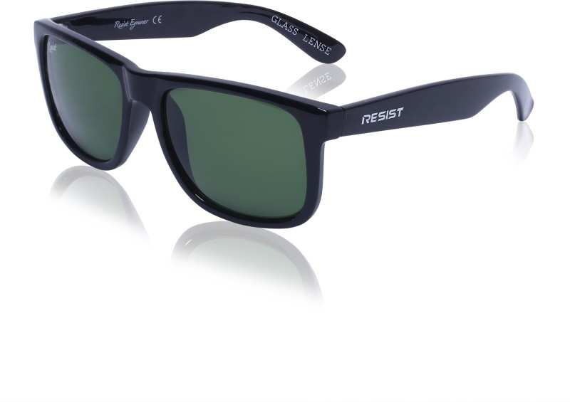 Resist Wayfarer Sunglasses(Green) image