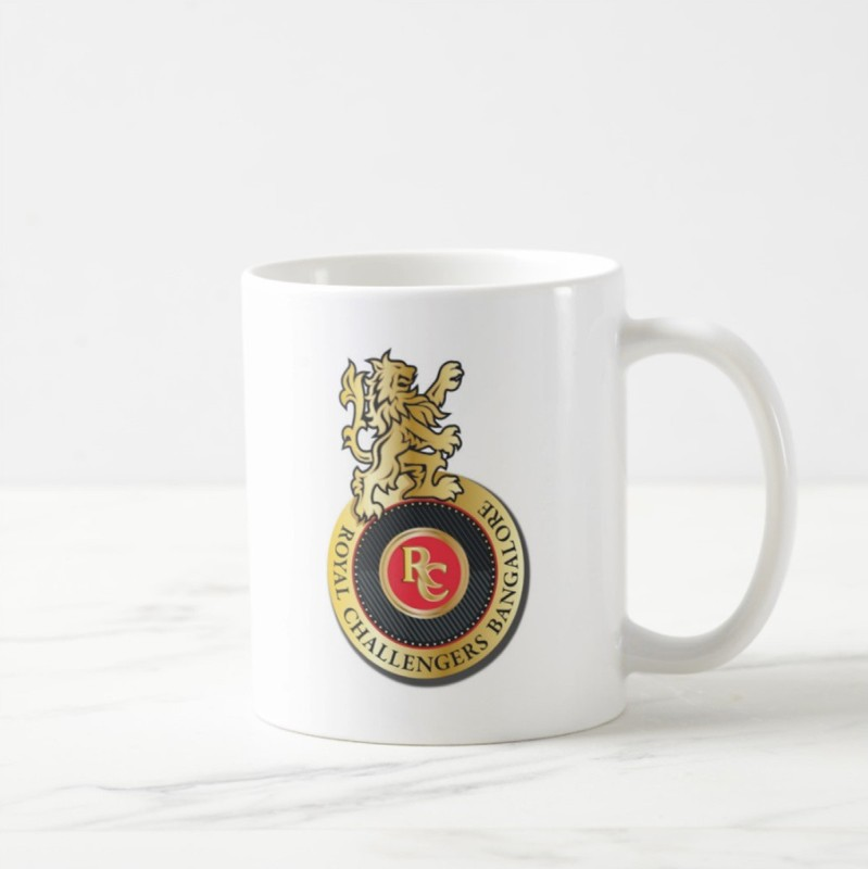 Giftcart Royal Challengers Bangalore IPL Ceramic Coffee Ceramic Mug(300 ml)
