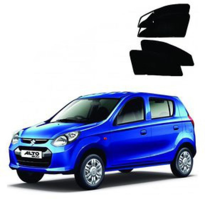 A K Traders Side Window Sun Shade For Maruti Suzuki Alto K10(Black)