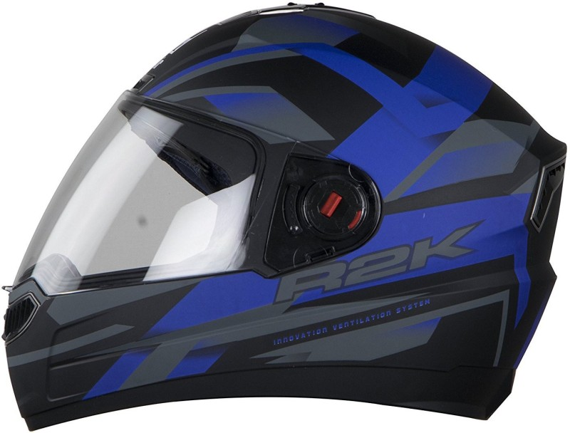 Steelbird AIR SBA-1 R2K Motorbike Helmet(MATT BLACK BLUE PLAIN VISOR)