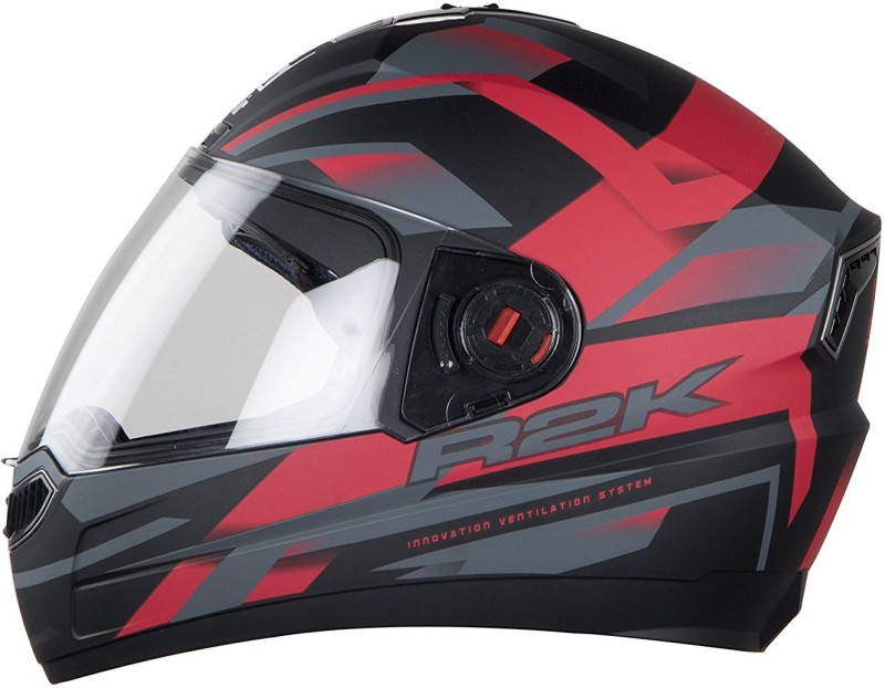 Steelbird AIR SBA-1 R2K Motorbike Helmet(Matt Black/Red)