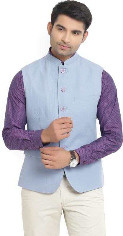 Van Heusen Sport Sleeveless Solid Mens Nehru Jacket