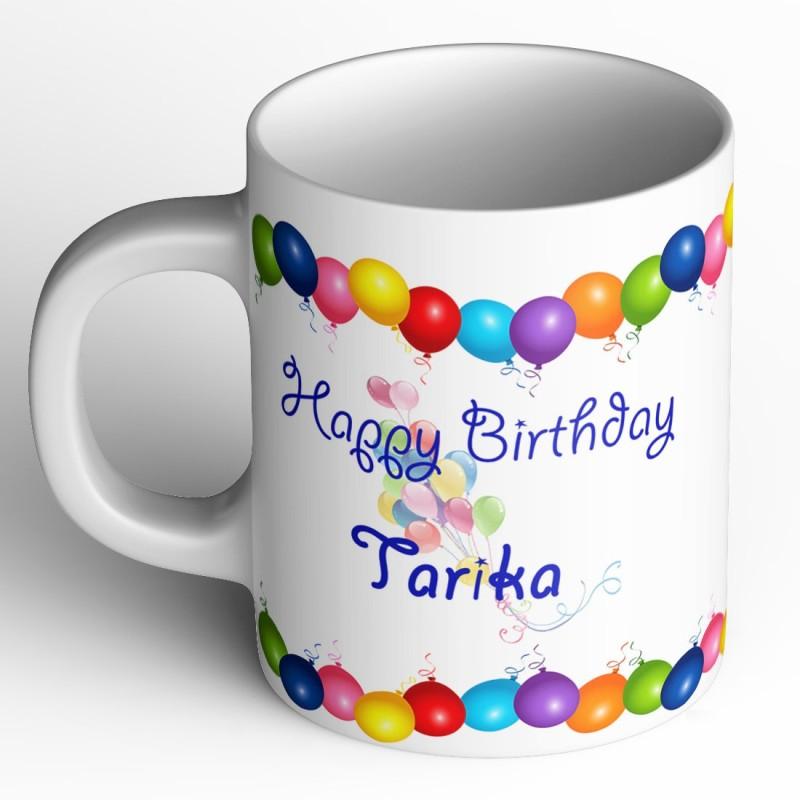Abaronee Happy Birthday Tarika Ceramic Mug(350 ml)