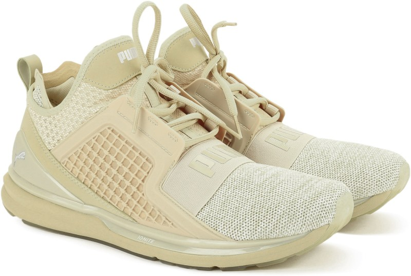 Puma IGNITE Limitless Knit Running Shoes For Men(Beige)