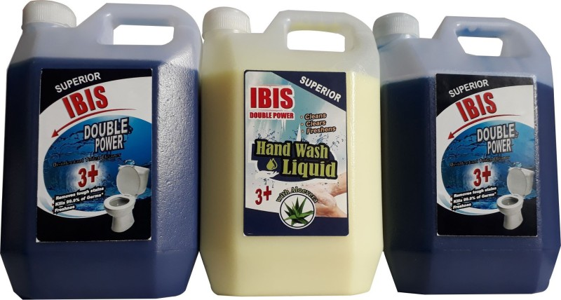 IBIS 3 LTR COMBO PACK OF DISINFECTANT TOILET CLEANER AND LIQUID HAND WASH Wild Orchid Liquid Toilet Cleaner(3000 ml, Pack of 3)