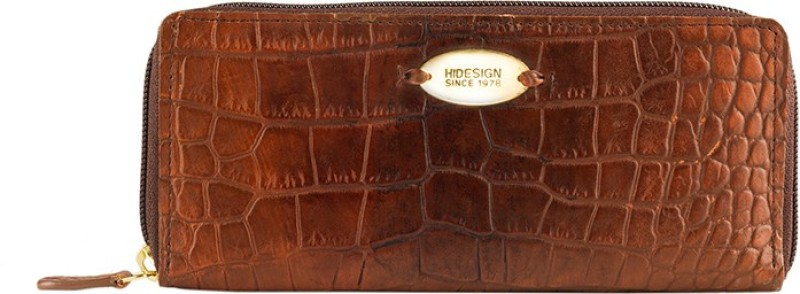 Hidesign Women Tan Genuine Leather Wallet(1 Card Slot)