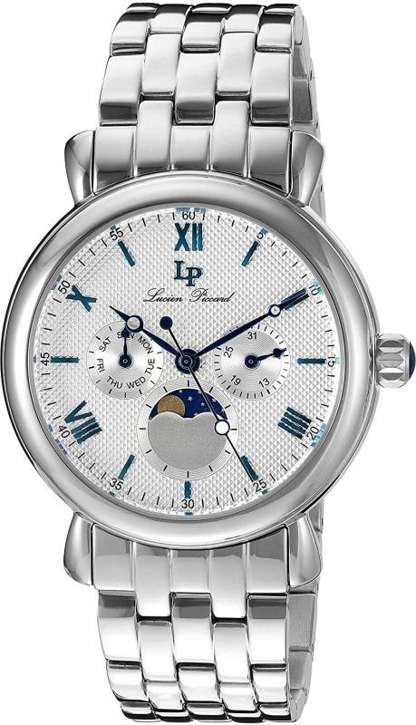 Lucien Piccard silver20961 Lucien Piccard Mens LP-40007-22S Sierra Analog Display Quartz Silver Watch Watch - For Men