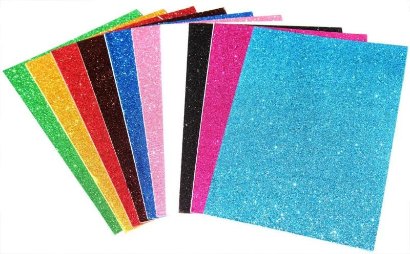 A-Mart™ A4 Size Glitter Eva Foam Sheet Pack Of 10 2 mm Acrylic Sheet(2 mm)