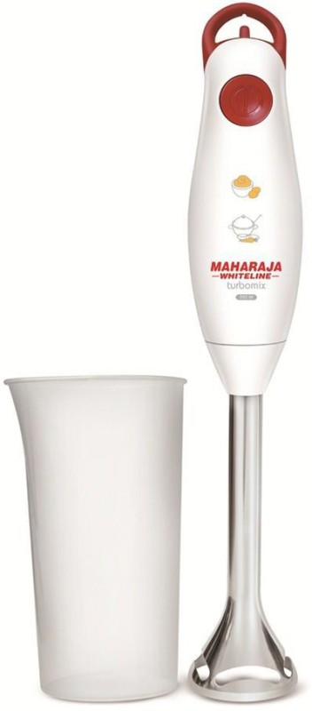 Maharaja Whiteline TURBOMIX DLX (HB 102) 350 W Hand Blender(RED AND WHITE)