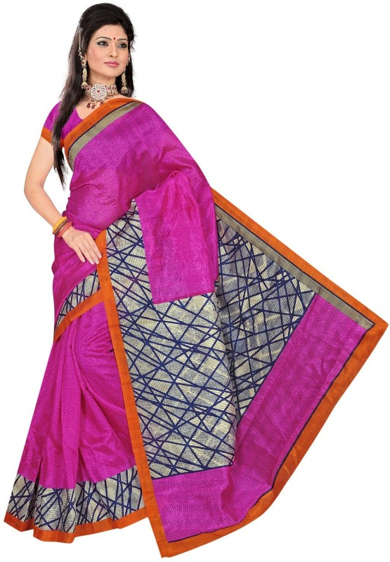 Winza Designer Printed, Self Design, Paisley, Temple Border, Solid Bollywood Cotton Blend Saree(Multicolor)