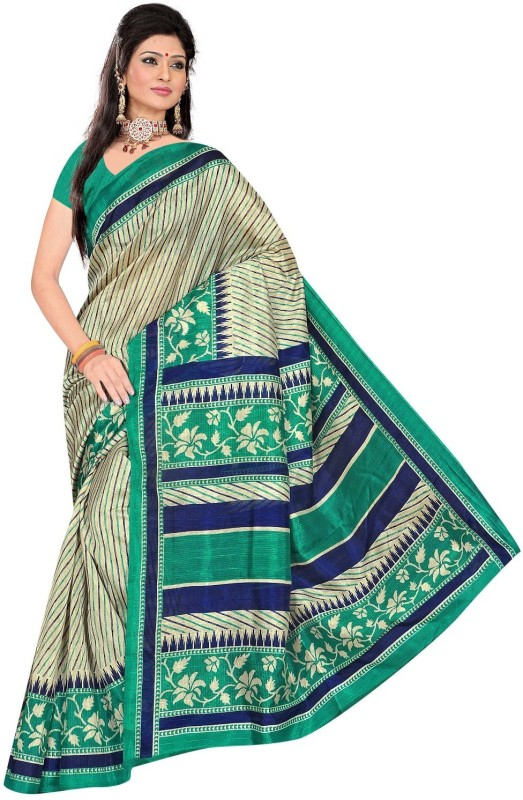 Winza Designer Printed, Self Design, Paisley, Temple Border, Solid Fashion Cotton Blend Saree(Multicolor)