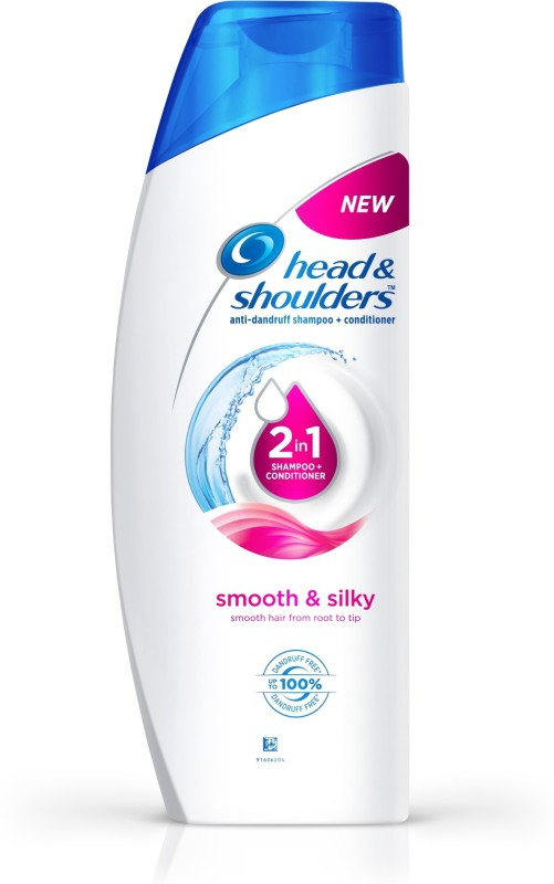 Head & Shoulders Smooth and Silky 2-in-1 Shampoo Plus Conditioner(360 ml)