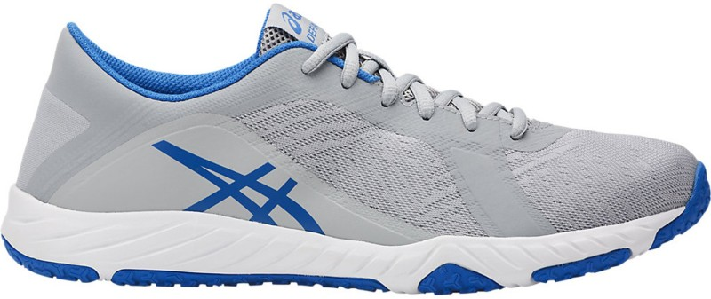 Asics Defiance X Mens Training and Gym Shoes, Mid Grey/Directoire Blue/White - 10 US Walking Shoes For Men(Grey, Blue)