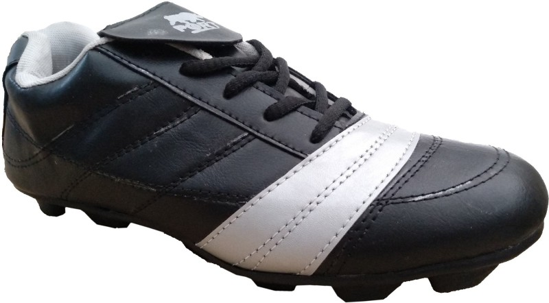 Port QASRICK Football Shoes For Men(Black, Silver)
