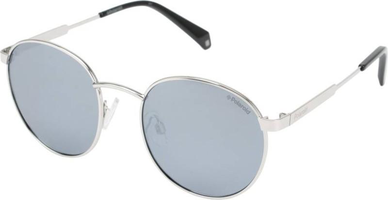 Polaroid Round Sunglasses(Silver)