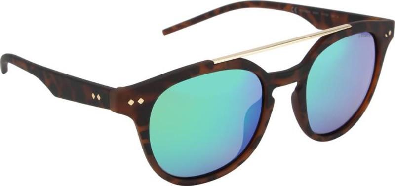 Polaroid Round Sunglasses(Green)