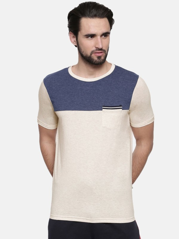 Proline Solid Men Round Neck Grey T-Shirt