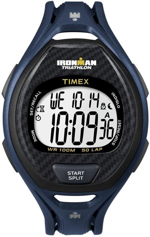 Timex White10179 Timex Ironman Sleek 50-blk Digital Watch - For Women