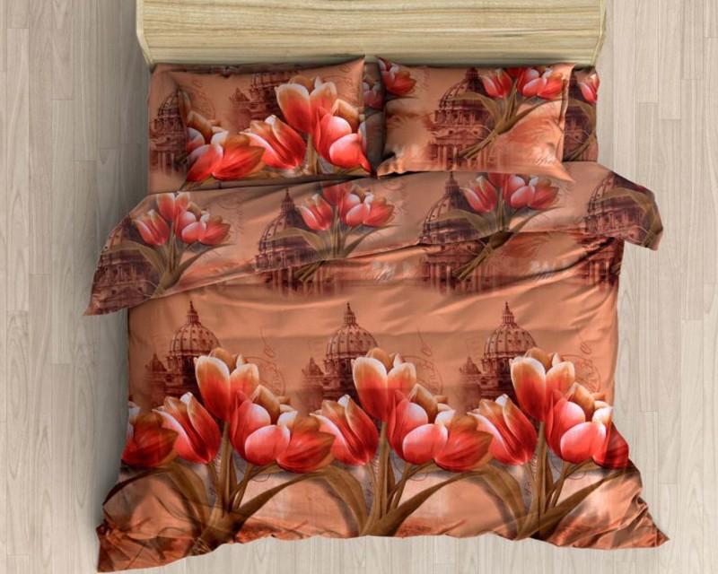 Little Joy 140 TC Polycotton Double Floral Bedsheet(Pack of 1, Multicolor)