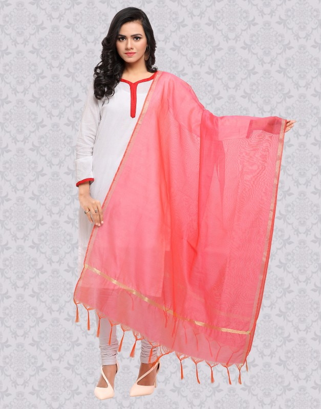 Divastri Raw Silk Solid Women Dupatta